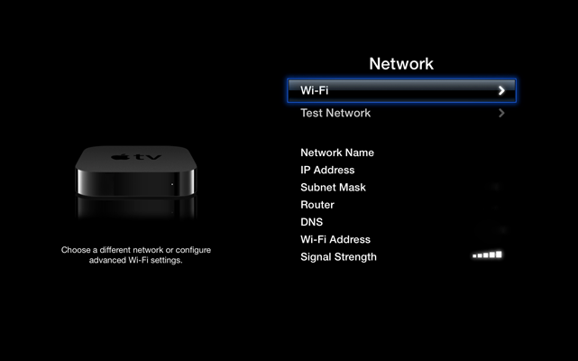 connect apple tv to trackman wi-fi